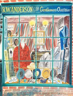 """Gentlemen's Outfitters"" by Emily Sutton (watercolour)"