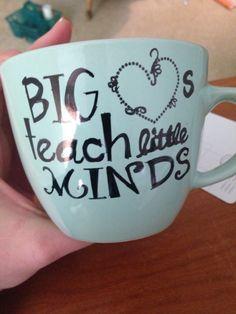 Sharpie mug for a Pre-school teacher. I baked it at 200 degrees for 2.5 hours.