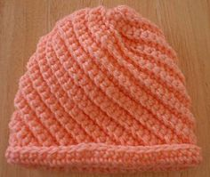 Crocheted Baby Swirls Hat Pattern