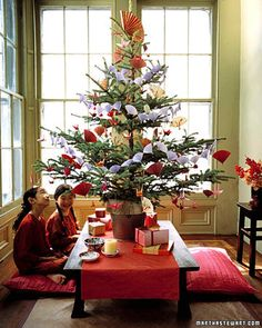 Origami Tree Creative Christmas Tree Decorating Ideas | Martha Stewart Living — Although there is no widespread Christmas tradition in Japan, people have learned a lesson of peace and goodwill from Sadako, a little girl who developed leukemia after the 1945 Hiroshima bombing.