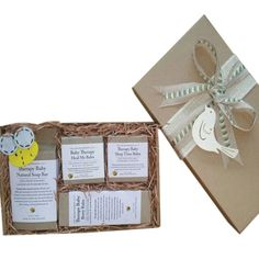 Fabulous Aromatherapy Co's baby therapy range of products beautifully gift boxed. Baby Gift Hampers, Baby Gift Box, Baby Hamper, Baby Gifts, Baby Bar, Organic Baby Clothes, Little Babies, Aromatherapy, The Balm