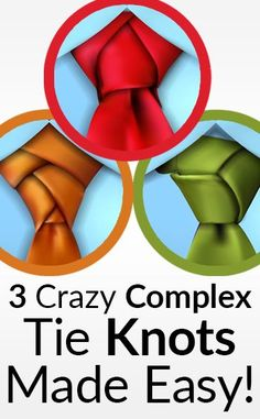 3 Crazy Complex Tie Knots Made Easy! Cool Tie Knots, Cool Ties, Easy Tie Knot, Fashion Mode, Mens Fashion, Fashion Tips, Tie A Necktie, Necktie Knots, Tie A Tie