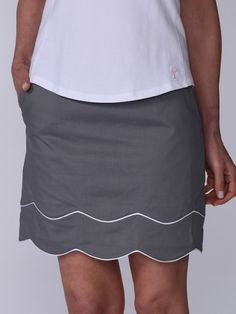 "Check out what #lorisgolfshoppe has for your days on and off the golf course: Grey Golftini Ladies 17.5"" or 19"" TRUTH OR DARE Stretch Cotton Golf Skort"