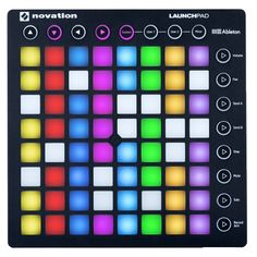 Novation Launchpad Ableton Live Controller with 64 RGB Backlit Pads Grid) ; Includes: [Novation Launchpad Orange USB Cable Printed Getting Started Guide Ab Ableton Live, Ableton Launchpad, Music Making Software, Novation Launchpad, Digital Audio Workstation, Drum Pad, Midi Keyboard, How To Play Drums, Rock Bands
