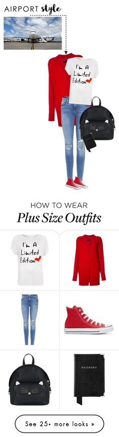 """airport style"" by ecem1 on Polyvore featuring RtA, Frame, WearAll, Converse, Accessorize, Aspinal of London and plus size clothing"
