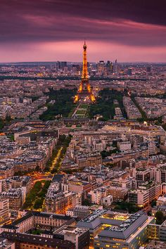 Paris after sunset