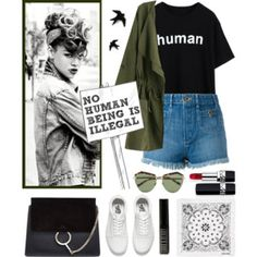 //Top Set// HUMAN: Statement Tee