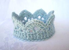 Baby Crown Hat, Newborn Photo Prop, crochet, choose your color. $10.00, via Etsy.