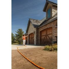 Stretch Hose - The amazing expandable Stretch Hose water hose that expands up to three times its original length. Washing Windows, Outdoor Life, Stretches, Cabin, The Originals, House Styles, Compact, Cleaning, Times