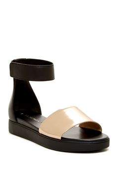 Via Spiga - Cativa Ankle Strap Leather Sandal at Nordstrom Rack. Free Shipping on orders over $100.