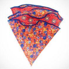 Edward Armah 'Floral-orange' pocket circle