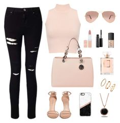 BACK TO SCHOOL #4 by lunahere on Polyvore featuring WearAll, Miss Selfridge, Stuart Weitzman, MICHAEL Michael Kors, Marlin Birna, H&M, Casetify, Ray-Ban, Rimmel and NARS Cosmetics