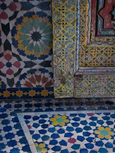 Moorish design at Telouet kasbah Morocco. Rosemary Sheel Photography