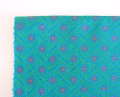Shweshwe Hot Turquoise with Hot Pink and Green by Yardwork