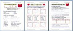dictionari skill, worksheets, free dictionari, teacher, free worksheet