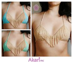 With this pack you get 4 original and sexy bikini tops and only pay for 3 of them! Easy to intermediate skill level.  ❤ These are a PDF patterns. To buy the already made bikini tops click here: http://etsy.me/1onlR42 ❤  Patterns included: - C11 USA flag with detachable strap. - C20 Square neck bikini top - M11 Triangle fringed bikini top - M24 Spider web bikini top.  > Contains explanations on how to make SMALL, MEDIUM and LARGE size (check sizes down bellow). > Written in American terms…