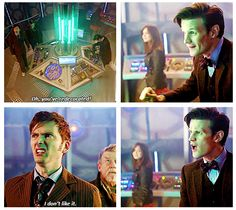 Oh how I love 10 and 11 together! (Doctor Who: The Day of the Doctor)