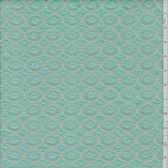 *1 YD PC--Aqua Green Embroidered Lawn - 29595-C1 - Fabric By The Yard At Discount Prices