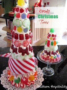 How to make candy Christmas trees. #Christmas #craft