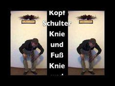 Kopf Schulter Knie und Fuß mit Bewegungen (Head, Shoulders, Knees and Toes with Motions- German)
