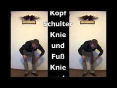 Kopf Schulter Knie und Fuß mit Bewegungen (Head, Shoulders, Knees and Toes with Motions- German)