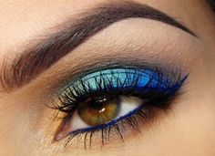 brown eyes blue makeup