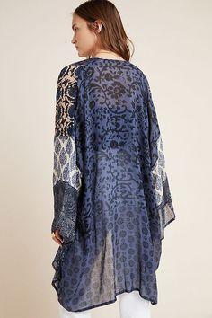 Short Kimono, Kimono Top, Fringe Kimono, Mood Indigo, Floral Kimono, Long Shorts, Anthropologie, Tunic Tops, Things To Sell