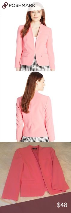 Nine West Bubblegum Blazer Never worn (doesn't have tags though). Color is more of a dark pink than light. Nine West Jackets & Coats Blazers