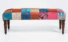 Muebles Portobellostreet.es: Banco Patchwork - Pies de cama Vintage - Muebles Vintage
