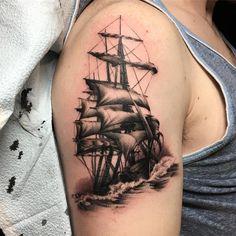Ship Tattoos, Tatoos, Shipwreck Tattoo, Alice In Wonderland Drawings, Family Tattoos, Octopus, Tatting, Instagram Posts, Tattoo Ship