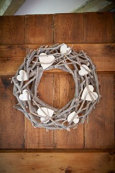 Surprise your beau with a Heart Twig Wreath (Large or Small) hung on the door to welcome them home.