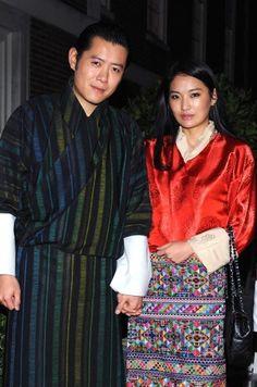 król i królowa Buthanu: Jigme Khesar i Jetsun Pema