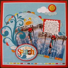 love the scallops behind the circle. Echo Park.  #scrapbooking