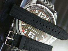 22Mm Hq Rubber Watch Band Pu Tire Sty Strap 22 Mm Chopard Sty