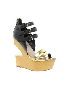 Enlarge DV8 Jeopardy Cut Out Leather Wedges