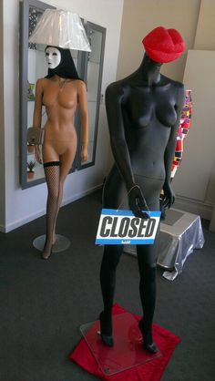 Creepy sexy mannequin lamps
