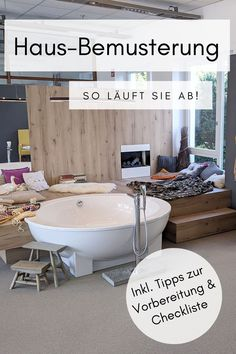 Bemusterung Haus - Tipps Home Hacks, Clawfoot Bathtub, Home Interior, Inspiration, Sequence Of Events, Building Ideas, Remodels, Build House, Asylum