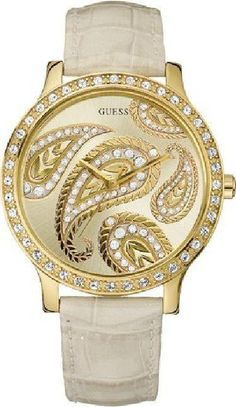 Guess Watch for Women Love the paisley design Cute Jewelry, Jewelry Accessories, Fashion Accessories, Paisley Design, Paisley Pattern, Paisley Print, Cool Watches, Guess Watches, Ladies Watches