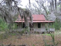 Daufuskie Island, South Carolina Old oyster house--typical property type on the island. Abandoned Houses, Abandoned Places, Cabins And Cottages, Down South, Low Country, Beautiful Architecture, Staycation, Back Home, Vacation Spots