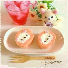 Korilakkuma Strawberry roll cake