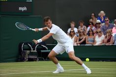 Tomas Berdych in action on No.2 Court. Jed Leicester/AELTC. Wimbledon 2015