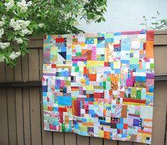 improv scrap quilt