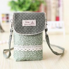 Women Flower Pattern Shoulder Bag Phone Bag For iPhone Samsung Sony Huawei Xiaomi Sony Floral Shoulder Bags, Canvas Shoulder Bag, Handbags On Sale, Luxury Handbags, Cheap Bags, E 10, Girls Bags, Casual Bags, Online Bags