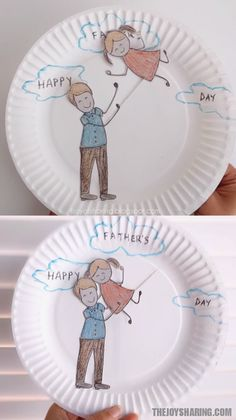 Celebrate father-child bond by making this cute craft with kids. This interactive and easy craft is a perfect father's day craft idea for preschool and kindergarten. via # fathers day crafts for kids Father's Day Craft Kids Crafts, Cute Crafts, Toddler Crafts, Preschool Crafts, Easy Crafts, Craft Kids, Diy Father's Day Gifts, Father's Day Diy, Fun Activities For Kids