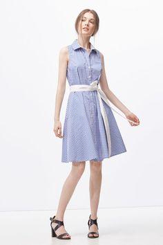 Cortefiel Vestido camisero Azul