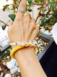 Yellow & Sea shell bracelet   boho style  bohochic  natural jewellery natural summer style boho jewellery jewelry