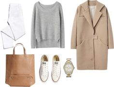 Minimal + Classic: white, camel, converse