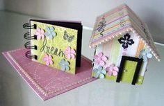 scrapbooking and template house mini album ♥