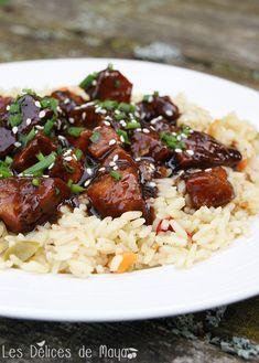Les délices de Maya: Poulet teriyaki à la mijoteuse Slow Cooker Recipes, Crockpot Recipes, Teriyaki Marinade, Sushi Rolls, Cooking Tips, Main Dishes, Food And Drink, Rice, Maya