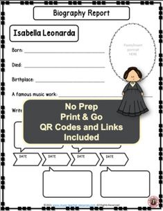 Introduce your young music students to female composer Isabella Leonarda and her music. This is an excellent addition to your Listening lessons! This resource contains: - TWO different FOLDABLES in BOTH COLOR AND B/W. - This foldable is a perfect accompaniment to foldable 1, or can be used on its own to respond to Isabella Leonarda's music during a listening lesson #mtr #musicteacher #musiced #musiceducation #musicteacherresources